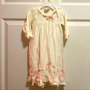 Baby Biscotti Gown w/Apron NB up to 8 poun…